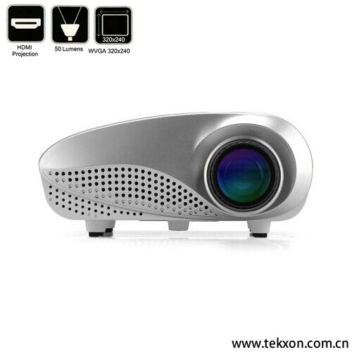 G600 Mini Multimedia 1000:1 Contrast Ratio, 50 Lumens, HDMI Port LED Projector
