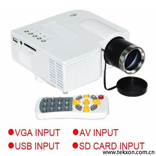 "TS28+ Mini AV LED Digital Projector w/USB, SD Card Slot & Speaker - 17"" - 67"" Display"