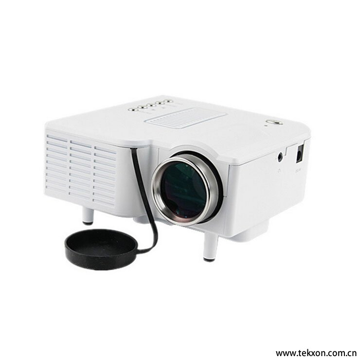 "G28+ Mini AV LED Digital Projector w/USB, SD Card Slot & Speaker - 17"" - 67"" Display"