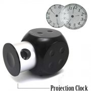 Smart and Fashionable Dice Shaped Clock LED Projection Clock for Multiple Purpose