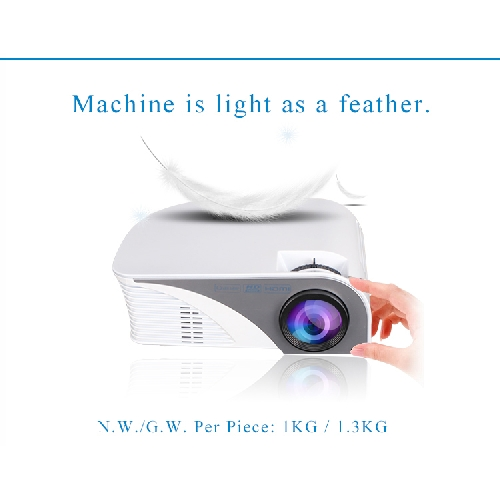 G8005B Mini HD 1080P LED Portable Projector with 2USB/SD/VGA/2HDMI/AV//TV/Micro USB