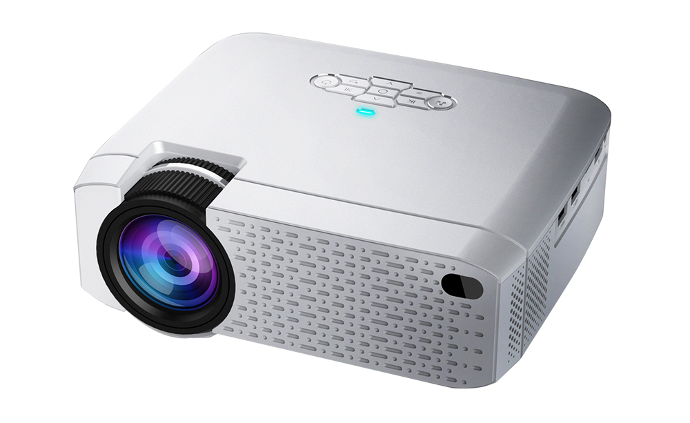 G400W MINI Projector, Support IOS/Android Phone Wireless Sync Display, LED Projector for 720P home cinema, 3D Beamer