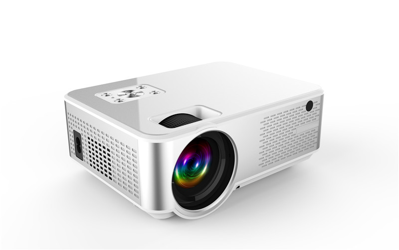 Newest Projector 1280*720P Support 4K Videos Via HDMI Home Cinema Movie Video Projector Android System with Same Screen Function Optional
