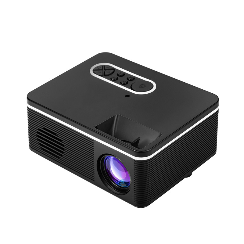 GIGXON - H88 Portable Mini LED Projector 320x240 Pixels 600Lumens Projector Home Media Player Built-in Speaker