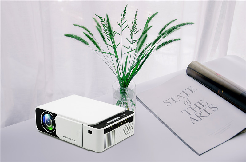 GIGXON-T5 LED Projector 800*480 Native Resolution 1080 HD Portable Video Projector WIFI Reay USB HDMI SD Audio Beamer for Home Cinema
